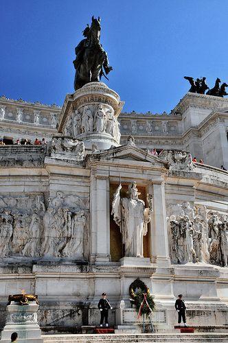 Tumba al Soldado Desconocido, Roma, Italia.