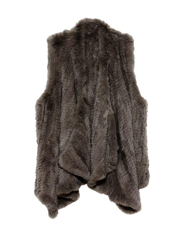 Rabbit Fur Grey Vest. one size. $329