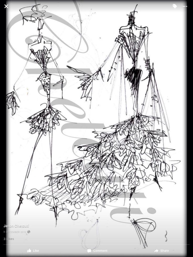 CHETCUTI couture illustration by Jason CHETCUTI