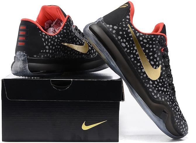 Kobe 10 Shoes Black Gold Red Grey1