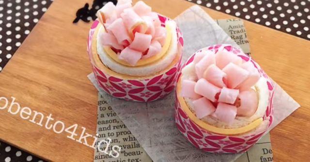 キャラ弁「かわいい一口サンドイッチの作り方」|動画&レシピ