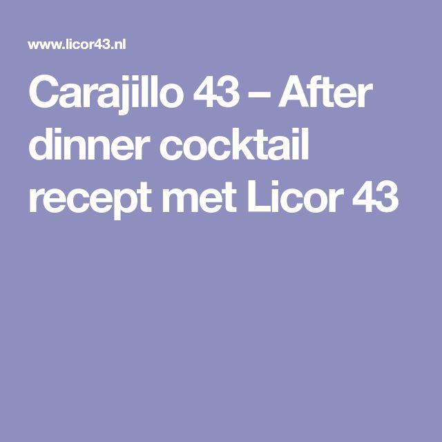 Carajillo 43 – After dinner cocktail recept met Licor 43