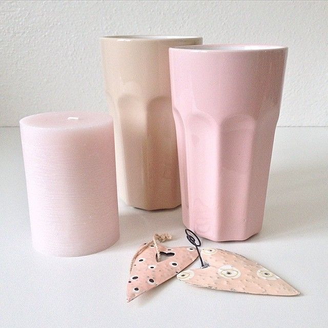 """""""New deco pieces  #decoration #rosé #pink #beige #cup #candel #candels #heart #deco #home #homesweethome #vintage #colors #shabby #chic #instablogger…"""""""