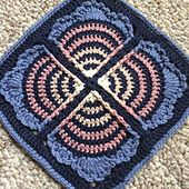Ravelry: Crochet Fan Club square pattern by Polly Plum.. Free pattern! ༺✿ƬⱤღ  https://www.pinterest.com/teretegui/✿༻
