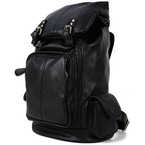 Black Leather Backpacks for Men Best College Backpack Frogworks Uno (5)