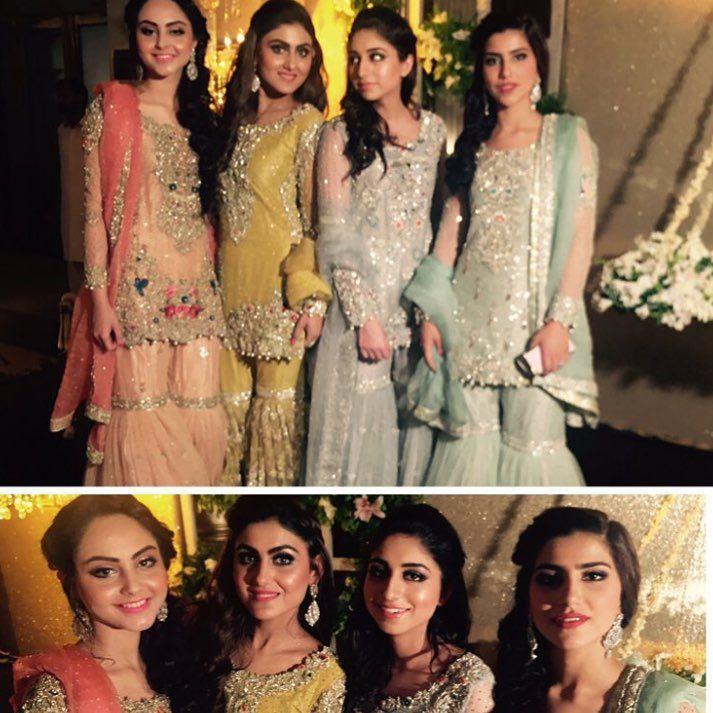 Pinterest: ✨☽⊱beauty0321⊰☾✨ Gorgeous ladies in @theivyofficial @aniqawaqar96 @anzaashar @aizaalvi95 @anushammar Qawali night #noozain