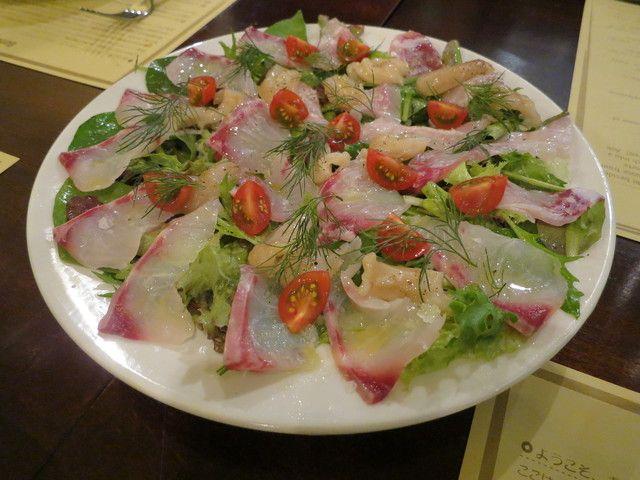 ボガマリ・クチーナ・マリナーラ - 石鯛とみる貝のカルパッチョ2