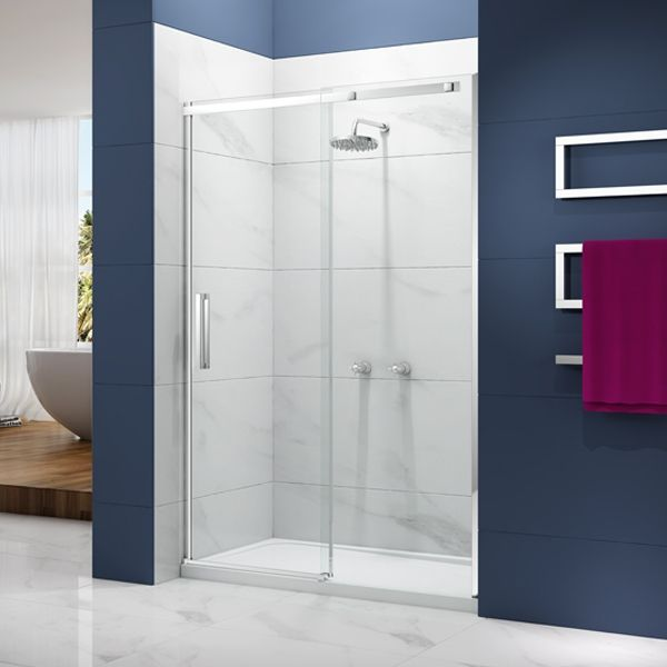 Merlyn Ionic Essence Sliding Shower Door 1200mm Wide 8mm Glass Sliding Shower Door Shower Doors Frameless Sliding Shower Doors
