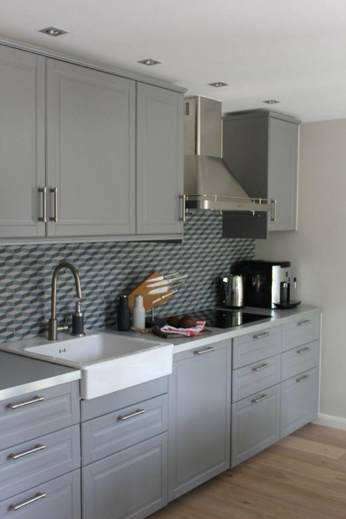 grey ikea bobdyn method kitchen in modern style kitchen ideas pinterest k che graue. Black Bedroom Furniture Sets. Home Design Ideas