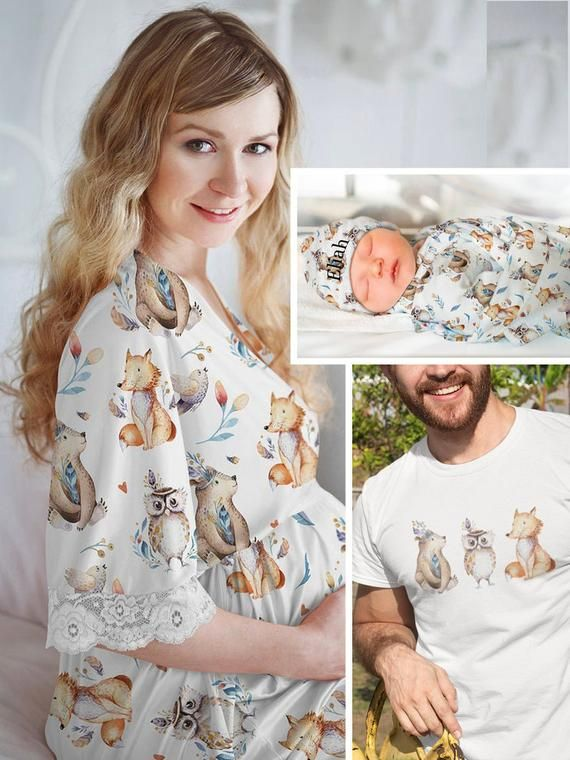 Coming Home Outfit Baby Shower Gift Baby Boy Swaddle Set Robe and Swaddle Blanket Set Hospital Robe Set Matching Hospital Set