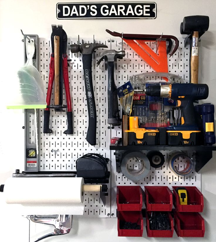 What do you get the guy who has everything this Father's Day? A place to store and organize everything that he already has! Make Dad happy and get him organized this Father's Day with a Wall Control Metal Pegboard Kit. Thanks for the great customer photo David! We hope you have a Happy Father's Day!