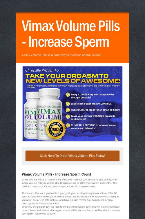 Free pills to increase sperm count, all in ass