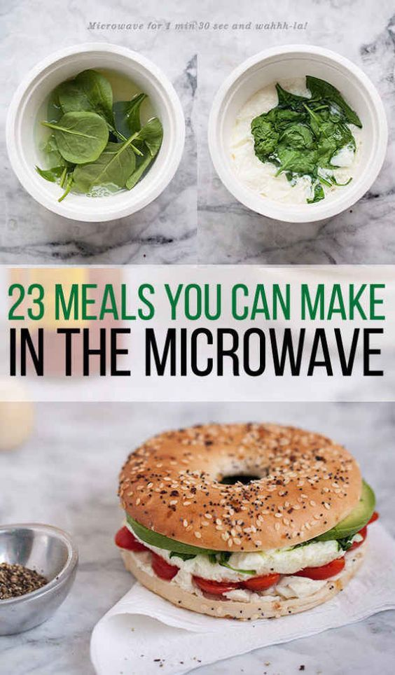 ☼☾ @dormsforgators 23 Dorm Room Meals You Can Make In A Microwave @dormsforgators                                                                                                                                                                                 More