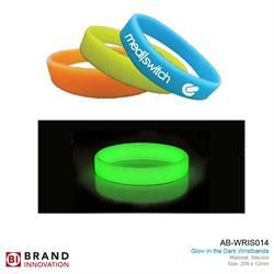 Glow in the Dark Silicone Wristband AB-WRIS014