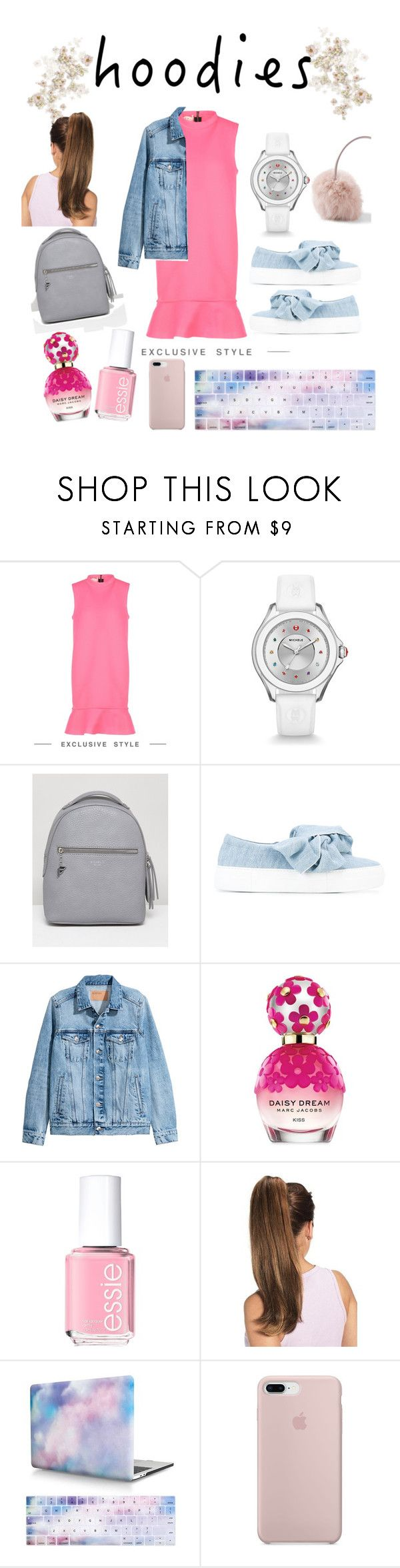 """""""studying"""" by huda94 ❤ liked on Polyvore featuring Marni, Michele, Fiorelli, Joshua's, H&M, Marc Jacobs, Essie and Hoodies"""
