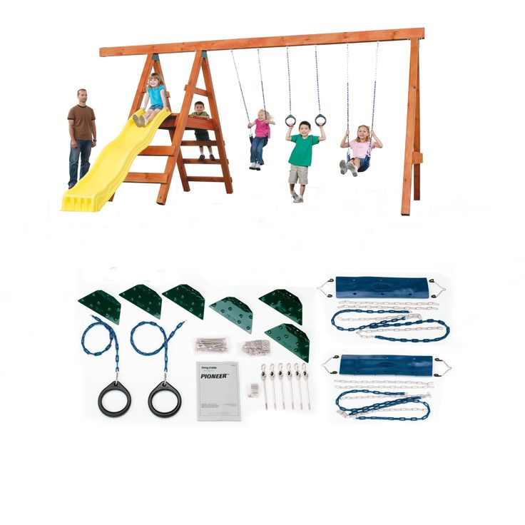 Pioneer Custom Swing Set Hardware Kit | Overstock.com Shopping - The Best Deals on Swing Sets/Lumber sold sep