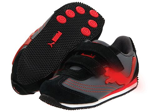 Puma Kids Speeder Illuminescent V Suede (Infant/Toddler/Youth)