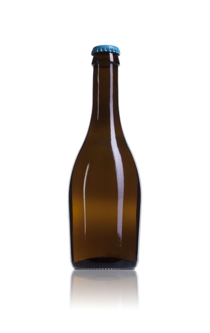 Botella de #cristal para #cerveza Praga de 330 ml. juvasa.com