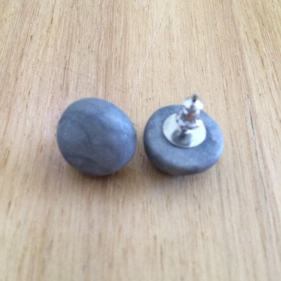 Handmade Polymer Clay Dome Studs by MadMarigolds on Etsy