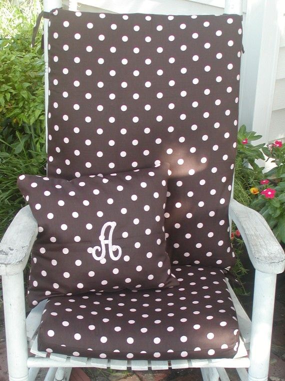 Rocking Chair Cushions And Pillow For Indoor Or By Taterbabies, $75.00  Oooooo! Love This