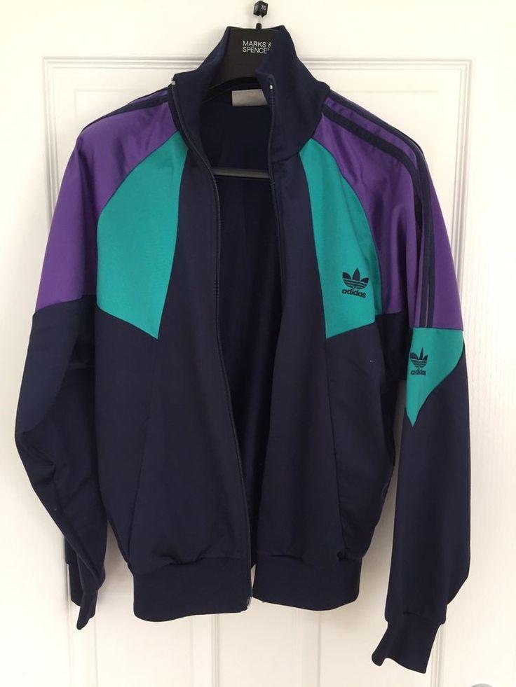 Retro Vintage Adidas Jacket 80s Originals Tracksuit