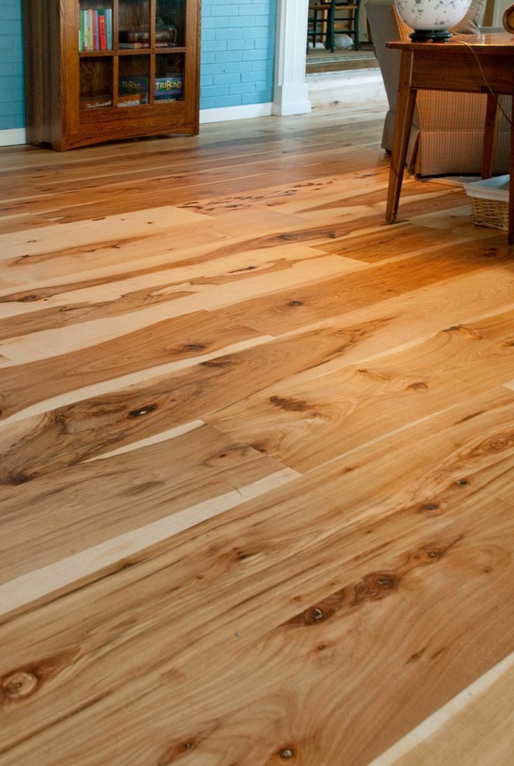 Harvest Character Hickory Flooring... obsessed