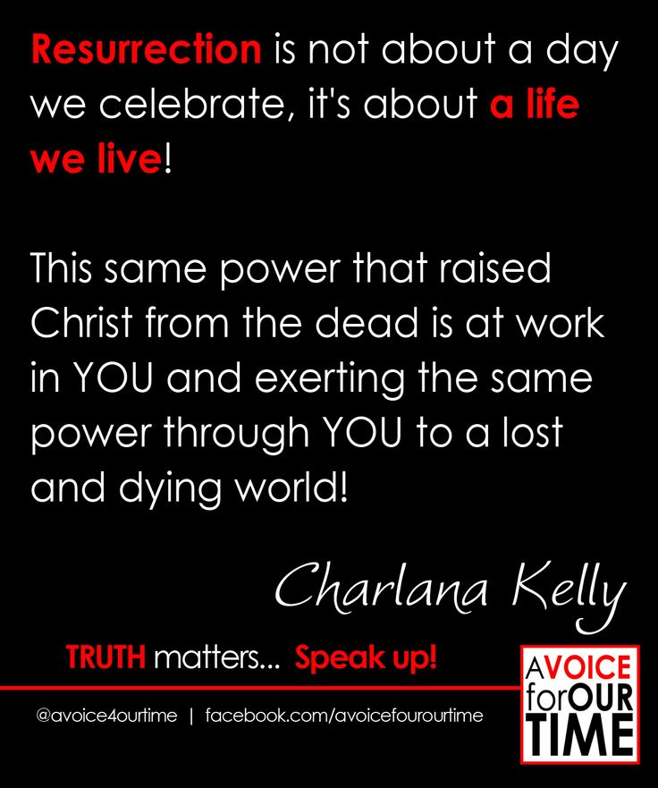 The power of a resurrected life! with Charlana Kelly http://avoiceforourtime.net