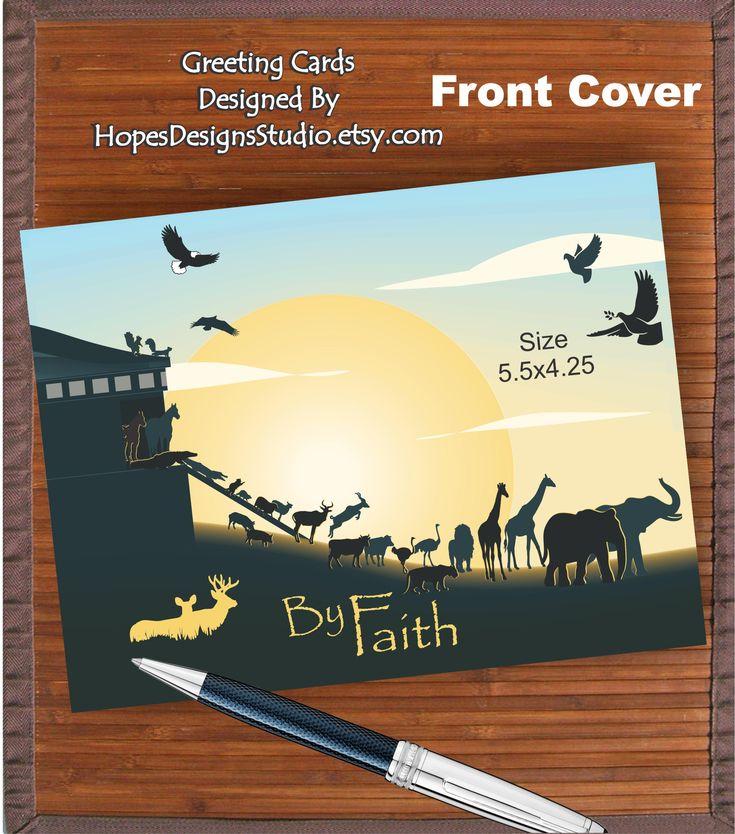 JW greeting card/Faith - Heb 11:1,7 scriptures/Faith of Noah/jw.org/encouraging card/Noah's ark/jw gifts/scripture card/jw cards/jw baptism