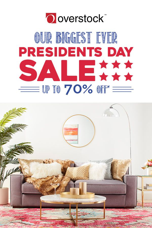 Looking to add style to your living room for less? Overstock's living room furniture sale features beautifully crafted sofas and side tables that are built to last. Right now you can lock in the best deal of the year with savings up to 70% off during the Presidents' Day Sale. Hurry! Sale will end on Thursday, 2/23/17.