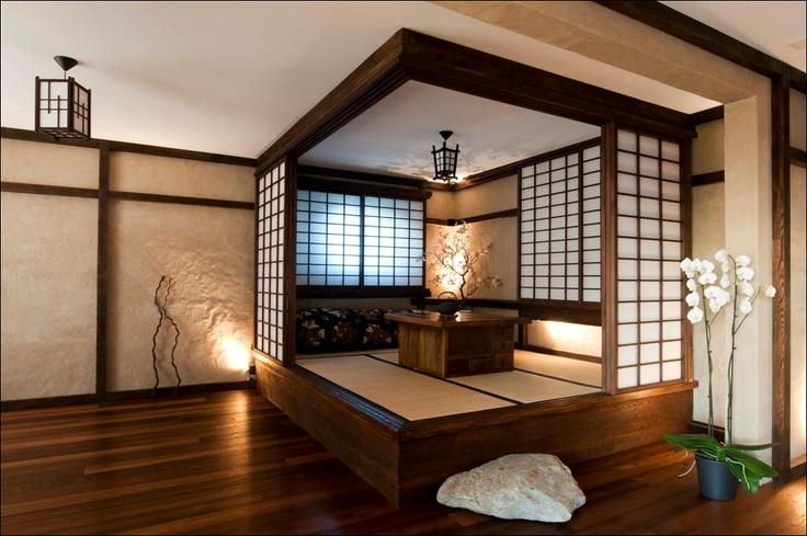 чайная комната в японском стиле
