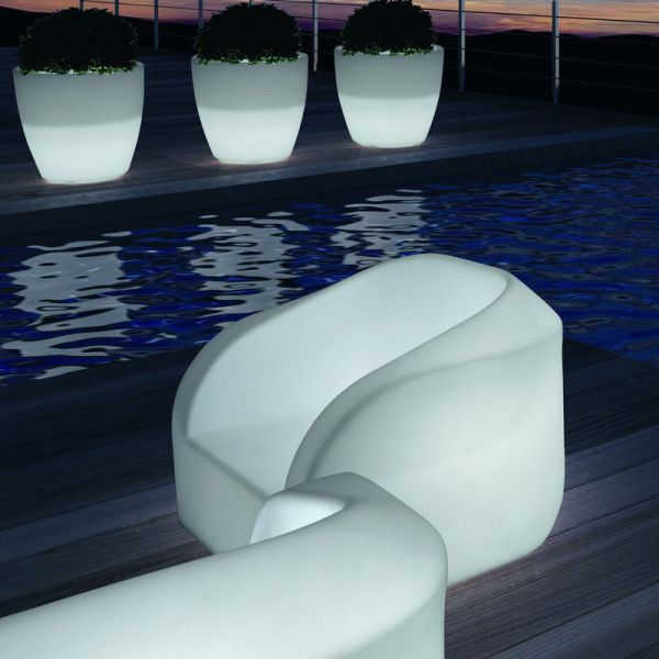 Capo LED Illuminated Armchair - Outdoor. With its interchangeable and remote controlled LED light inside, you can take it anywhere you want. No electrical cables, no mess, no fuss.