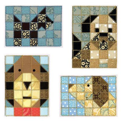 Paper Quilt Pattern-Dog Friends