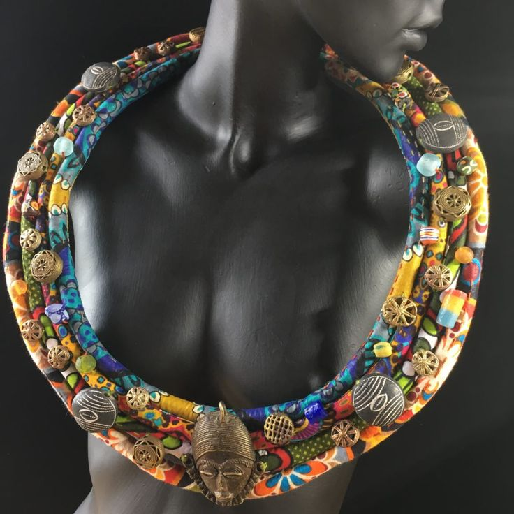 Contemporary South African handcrafted textile jewelry