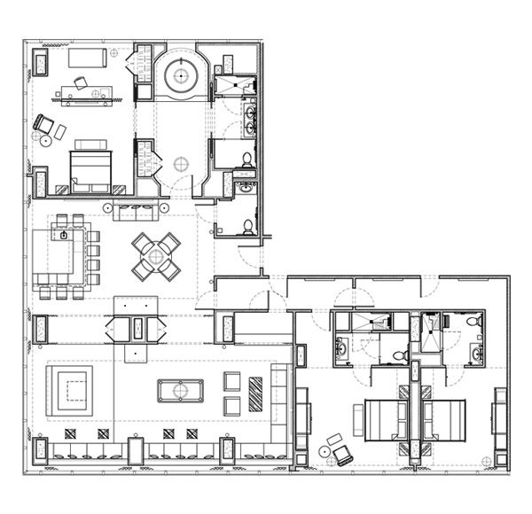 31 best Planos images on Pinterest Floor plans, Arch and - hotel appartements luxuriose einrichtung hard rock hotel las vegas