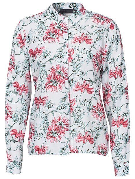 Wivian Shirt - Minimum - White - Paitapuserot & Kauluspaidat - Vaatteet - Nainen - Nelly.com