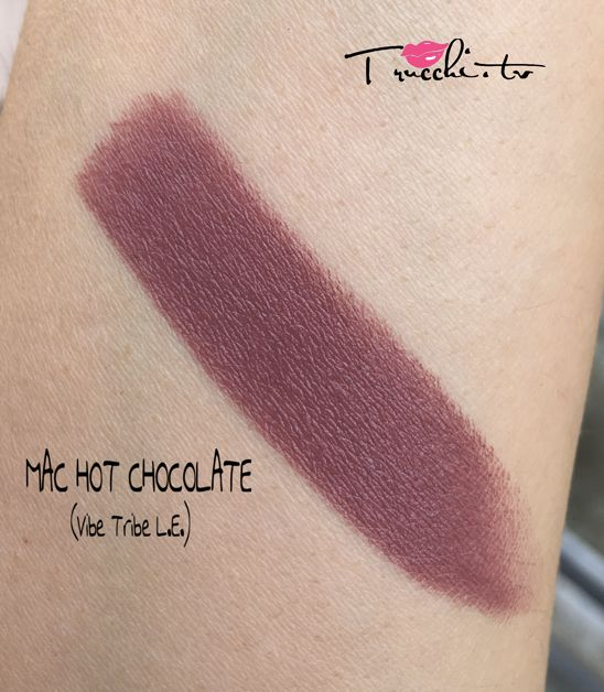 Review Rossetto Mac Hot Chocolate Swatch