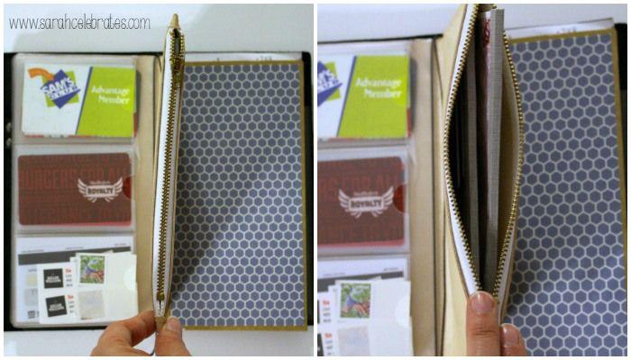 Way Cool Wallet - Original Midori Travelers Notebook As A Wallet zipper pocket | Sarah Celebrates