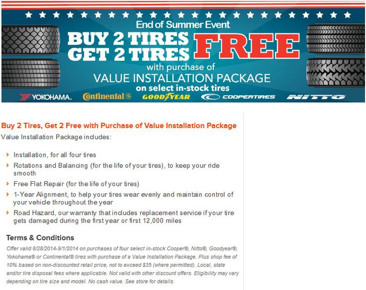 Walmart Tire Installation Price >> 17 Best images about Tire coupons and rebates on Pinterest | September 2014, Cars and Tyre sales