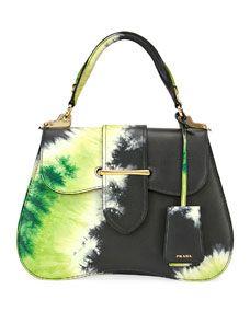 18396022cb159 Prada Tie-Dye Prada Sidonie Top-Handle Tote Bag