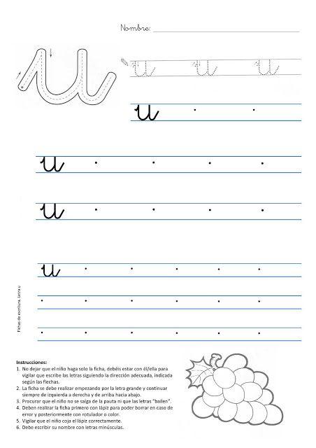En un rincón de mi aula de Infantil: Fichas de lectoescritura