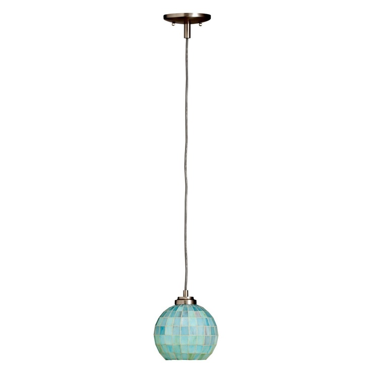 Kichler 65336 casita tiffany 1 light mini pendant 7w in brushed nickel pendants at - Mini light pendant for kitchen island ...