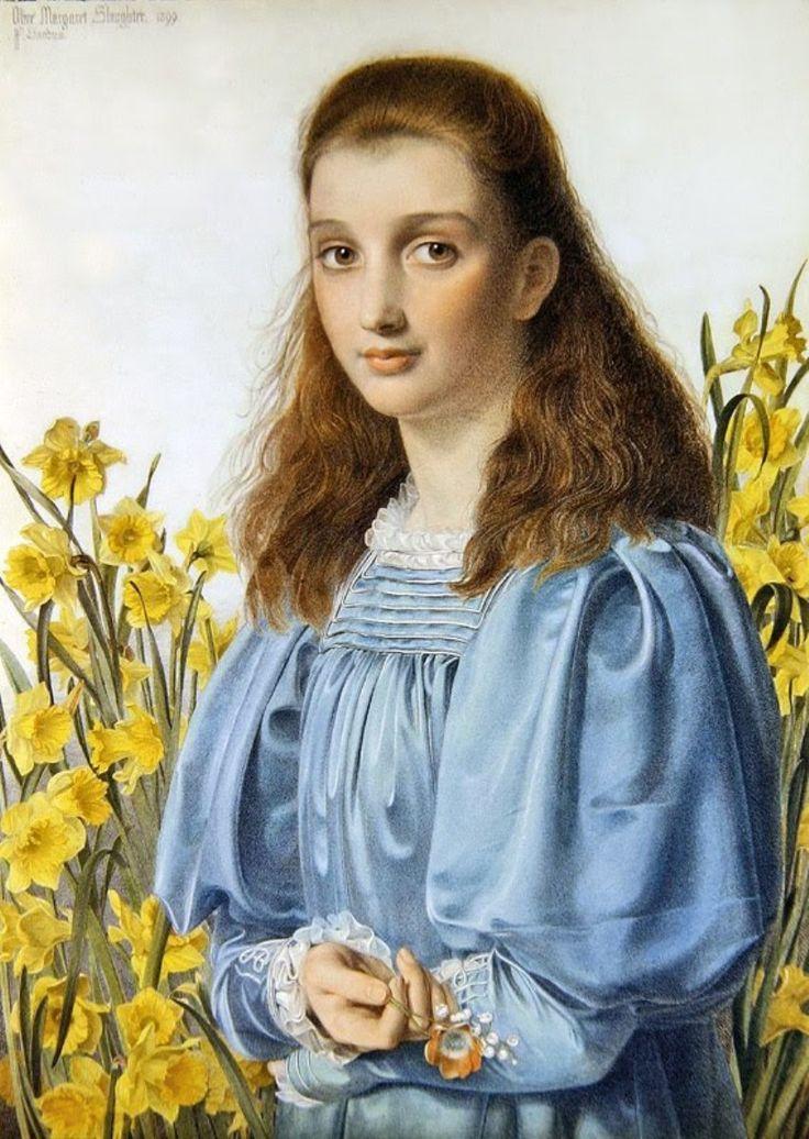 Olive Margaret Slaughter -- Frederick Sandys (English,1829