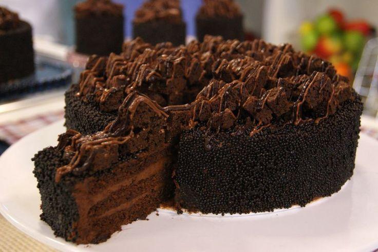 Bolo Dark Mousse de Chocolate