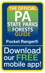 DOG CABINS: Download for free the official Pennsylvania state parks and forests app.