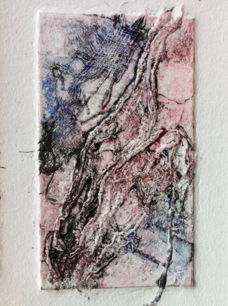 Intaglio collagraph textures