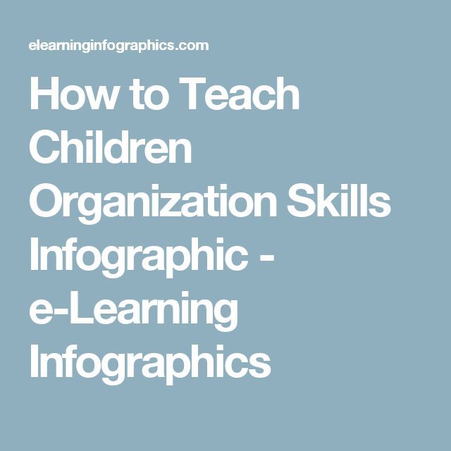 How to Teach Children Organization Skills Infographic - e-Learning Infographics