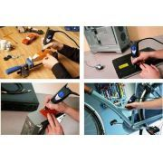 Gravador Elétrico 290-55 - Dremel Com o gravador Dremel 290, você pode gravar e decorar uma infinidade de materiais, incluindo: metais, plástico, vidro, cerâmica e madeira. www.colar.com