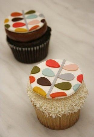 looking Orla Kiely Cupcakes