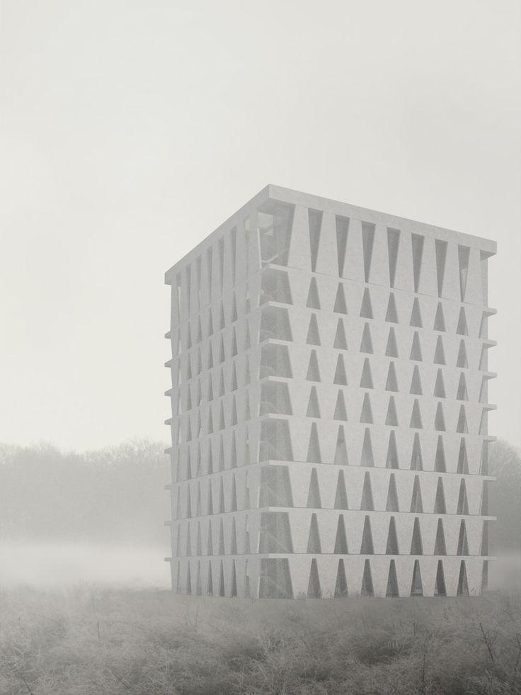 Schaedler Gentsch Architects, Hotel Uetliberg I #uetliberg #zurich #zürich #switzerland #schweiz #hotel #concrete #beton #hall #patio #structure #construction #rationalism #minimalism #architecture #architect #architects #design #facade #fassade