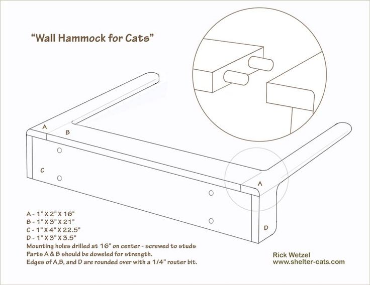 Hammock for Cats – www.shelter-cats.com